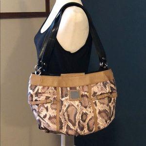 Miche snakeskin print hobo bag